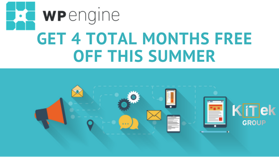 WP Engine Hosting: Get 4 total months free off this summer with coupon code