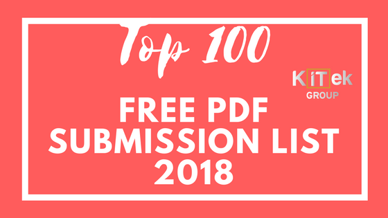 Free PDF Submission sites list 2018