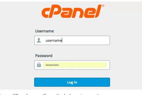 A2Hosting cPanel Login