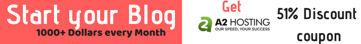 Start your Blog with a2hosting